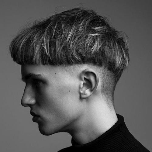 gaya rambut pria 2021 bowl cut