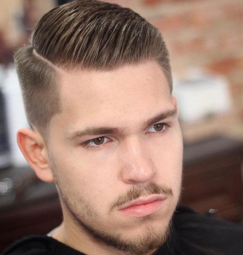 gaya rambut pria 2021 side part